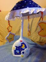 Baby two in one mobile and lamp