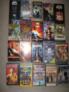20 VHS movies for $5-5 Stars Wars,Lord Of The Rings,Beast Wars