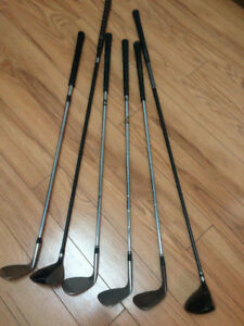 Nike, Taylormade, Cleveland golf clubs - wedges, 5 wood, 3 wood