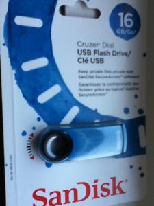 16GB USB 2.0 drive Sandisk Cruzer