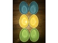 Colourful Crate & Barrel Egg / Easter Ramekins
