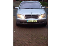 S CLASS MERCEDES S 500 5000CC V8 AUTO BREAKING FOR PARTS ONLY