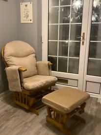Rocking Nursing Maternity Breastfeeding Recliner Chair w