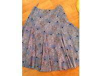 Lovely White Stuff blue fully lined skirt 12