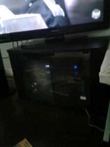 bkack tv stand
