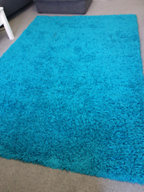 Shaggy Teal rug from Oxford rugs
