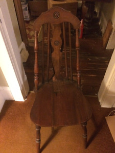 Antique Wood Dining Chairs (Set of 6)