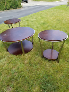 Nice coffee table and two side tables