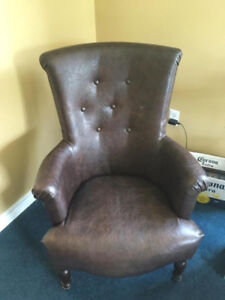 Chair - brown leatherette