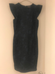 Navy & Black Dress Size XS (4-6) - Perfect for Holidays!