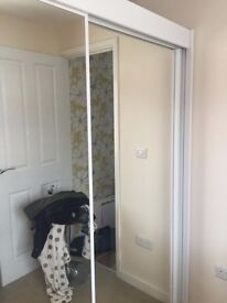 Double Wardrobe Sliding Mirror Doors