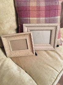 Shabby chic dusty pink photo frames