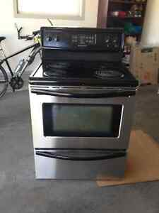 Frigidaire Black & Stainless Steel Stove w/ Self-Cleaning Oven