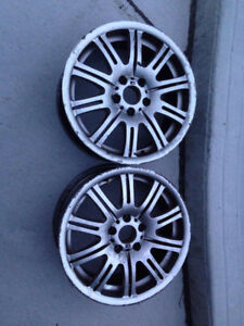 2 SPARE GENUINE BMW M3  MAGS 18 INCH