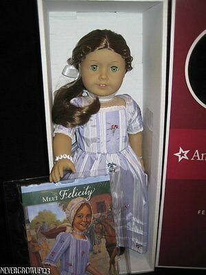 AMERICAN GIRL FELICITY DOLL AND BOOK + BONUS DOLL & CHILD BEAD BRACELETS~NIB