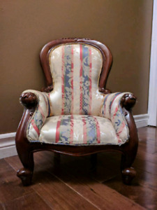 Miniature Victorian Spoon Back Arm Chair Photography Prop