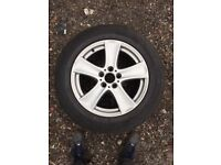 BMW X5 alloys with new tyre Dunlop run flat 6mm 255/55/18