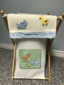Baby Laundry hamper and Hanging Diaper Storage Pouch