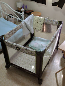 Graco Baby playpen and graco high chair