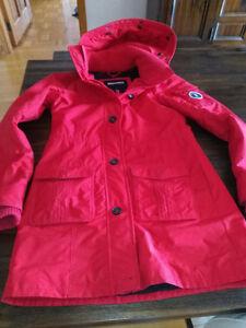 Manteau d'hiver rouge Abercrombie & Fitch medium
