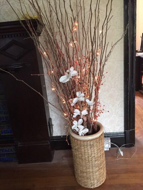 large vase ornamental twig lights in sketty swansea gumtree