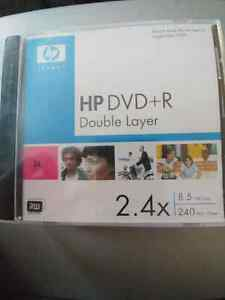 2 Packs ( 3 in each pack) Of HP DVD+R Double Layer