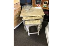 Shabby chic distressed nest of tables