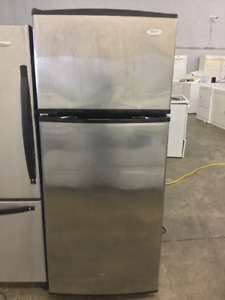 "Whirlpool 28"" Stainless Steel Fridge and Freezer"