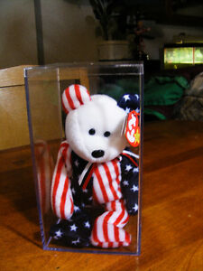 Ty Beanie Buddy - Spangle the American Bear - Retired