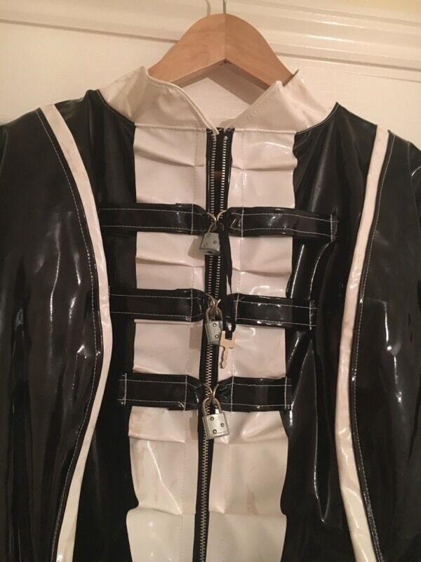 Male Sissy Maid Lockable Pvc Outfit And Leather Corset 163 50