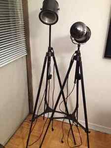 Industrial Floor Lamp x2