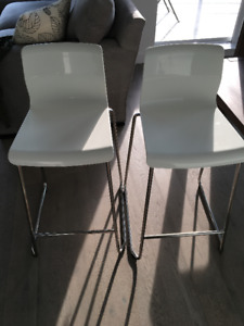 2 IKEA Glenn Bar Stools (White)