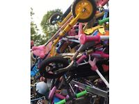 Job lot of 100 kids scooters