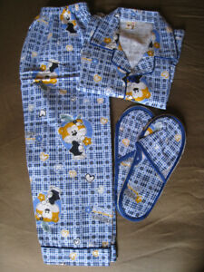 Boys PJ and slippers set - 3T