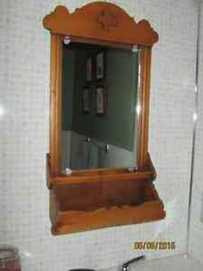 Antique Victorian Mirrored Box Shelf Vanity