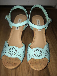 MINT BLUE WEDGES 10/10 CON (WORN ONCE)