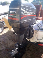 1996 FORCE 90HP WITH CONTROLS AWESOME SHAPE