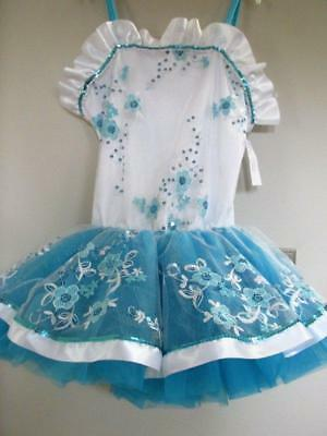 Blue Ballet Sequin Tutu Curtain Call Costume Dress Up Halloween CSM CXLG (Blue Tutu Halloween)