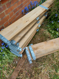 Pallet collars/surrounds, great wood for raised beds