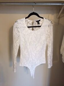 White Lace Body Suit