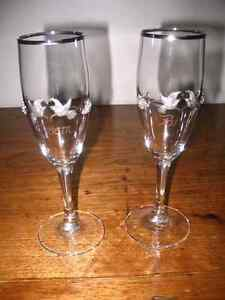 Wedding Glassware  Bride Groom Champagne Glasses Goblets