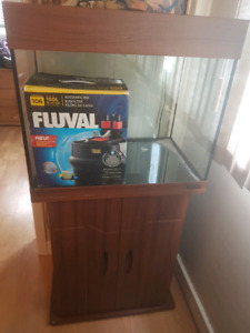 30 gallon aquarium with Fluval canister filter