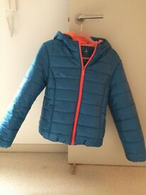Quilted Jacket / Anorak - Blue and pink