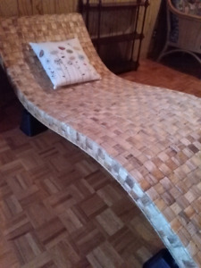 Lounge chair chaise longue rotin wicker