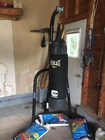 Everlast heavy bag and speed bag stand and equipment