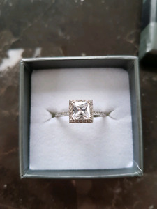 Metal Masters Co. Princess Cut CZ Sterling Silver Ring