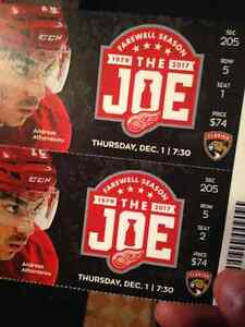 Detroit Red Wings vs. Florida Panthers TWO TICKETS Windsor Region Ontario image 1