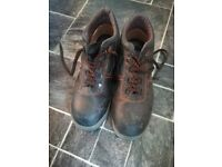 MEN'S STEEL TOE CAP WORK SAFETY BOOTS SIZE 8