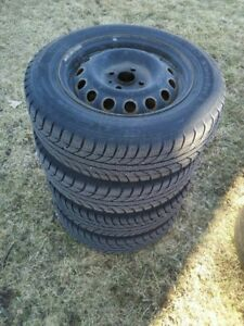 """14"""" Winter Tires on Rims - Low Mileage –"""