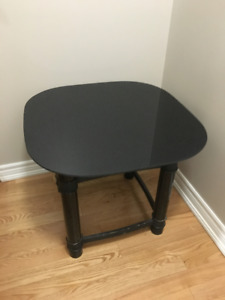 Two black side tables for sale